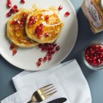 Easy Vegan Egg Nog Pancakes! 7 Ingredients | picklesnhoney.com #recipe #vegan #eggnog #holidays #pancakes #dairyfree #breakfast #brunch