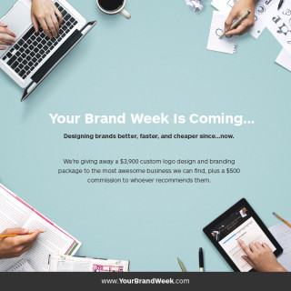A Giveaway for $3,900 of custom logo design & branding to the most awesome business we can find, plus a $500 commission to whoever refers them! | YourBrandWeek.com