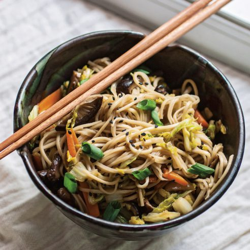 Better-Than-Takeout Vegetable Lo Mein | picklesnhoney.com #lomein #vegan #recipe