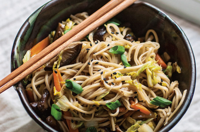 Better-Than-Takeout Vegetable Lo Mein | picklesnhoney.com #lomein #vegan #recipe