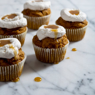 Pumpkin Muffins with Honey Coconut Whip
