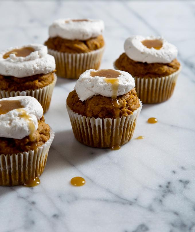 Pumpkin Muffins with Honey Coconut Whipped Cream | picklesnhoney.com #eggfree #dairyfree #pumpkin #muffins #recipe
