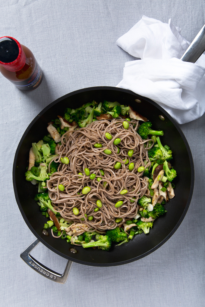 Spicy Shiitake Soba Noodles with Peanut Sauce | picklesnhoney.com # ...