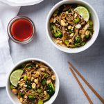 Spicy Shiitake Soba Noodles with Peanut Sauce