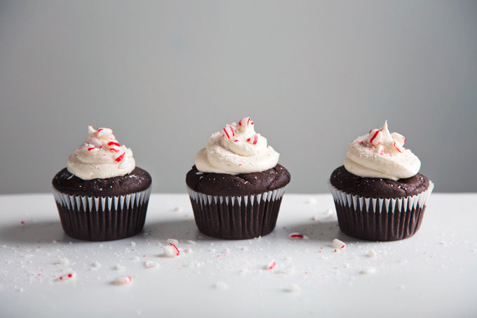 Vegan Triple Chocolate Cupcakes with Peppermint Frosting   picklesnhoney.com #vegan #chocolate #cupcakes #peppermint #buttercream