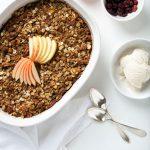 Gluten-Free & Vegan Cardamom Apple Crisp