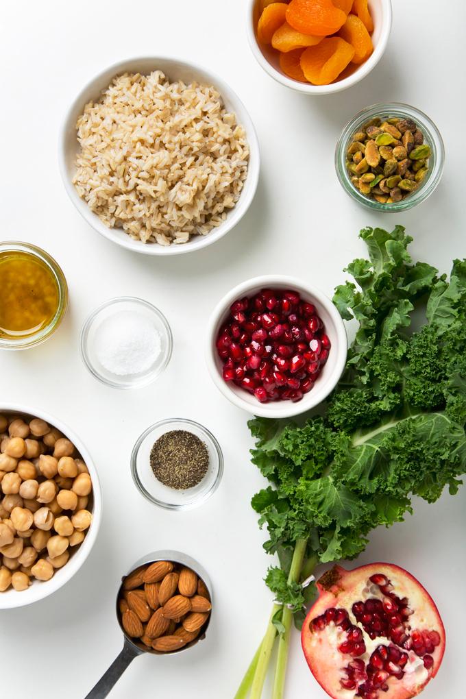 Winter Brown Rice & Kale Salad | picklesnhoney.com #salad #kale #vegan #recipe