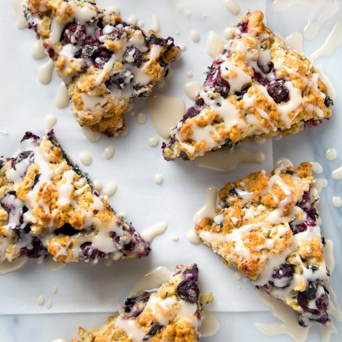 10-Ingredient Vegan Blueberry Scones! A great beginner recipe because they are so EASY. | picklesnhoney.com #vegan #blueberry #scones #recipe #breakfast #brunch
