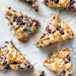 10 Ingredient Vegan Blueberry Scones | picklesnhoney.com #vegan #blueberry #scones #recipe #breakfast