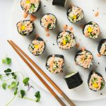 Spicy Mango & Avocado Brown Rice Sushi