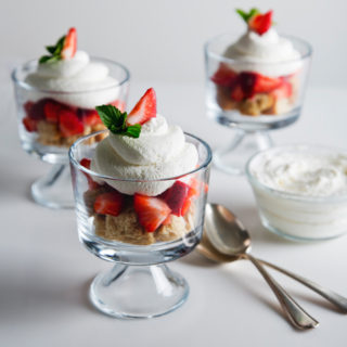 Mini Vegan Strawberry Shortcake Trifle