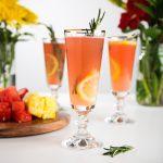 Sparkling Watermelon Rosemary Lemonade Cocktails