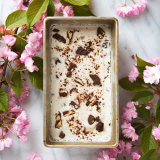 Bourbon Salted Chocolate-Pecan Cluster Ice Cream