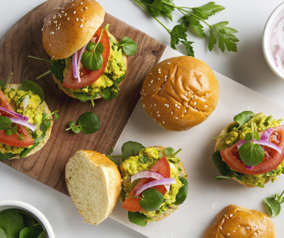 Avocado Chickpea Salad Sandwiches | picklesnhoney.com #vegan #avocado #chickpea #salad #sandwich #recipe