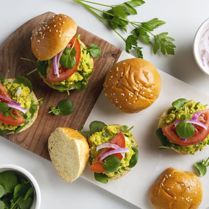 Avocado Chickpea Salad Sandwiches   picklesnhoney.com #vegan #avocado #chickpea #salad #sandwich #recipe