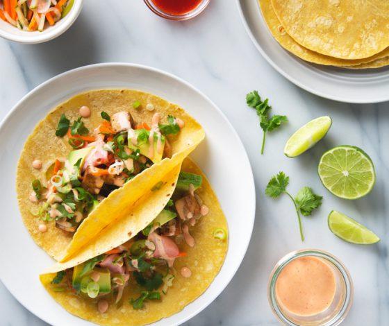 Tofu Banh Mi Tacos | picklesnhoney.com #recipe #tofu #banhmi #tacos