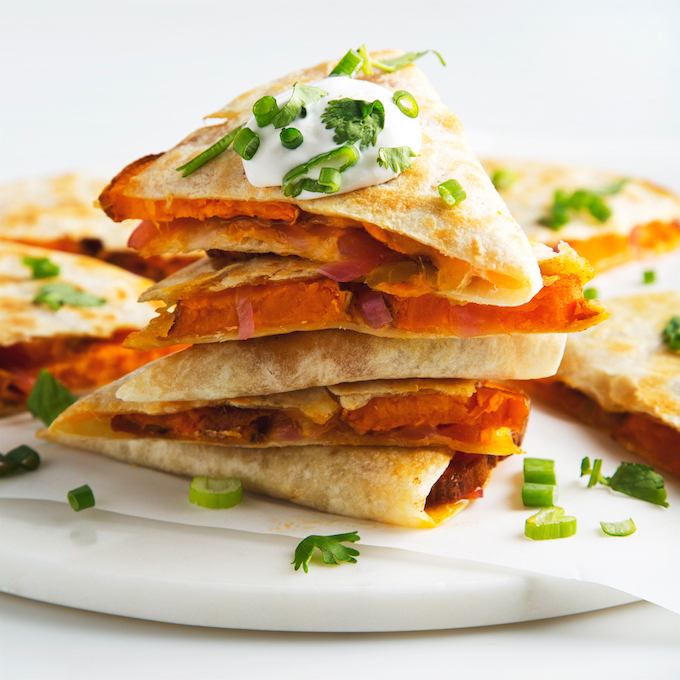 Vegan Sweet Potato Quesadillas | picklesnhoney.com #vegan #quesadillas #recipe #sweetpotato