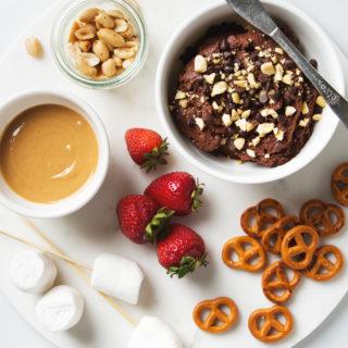 Peanut Butter Chocolate Hummus