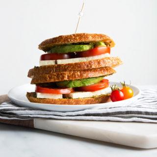 Vegan Caprese Grilled Cheese Sandwich