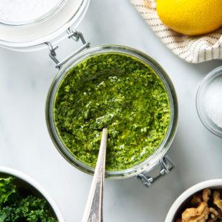Lemony Walnut & Kale Pesto