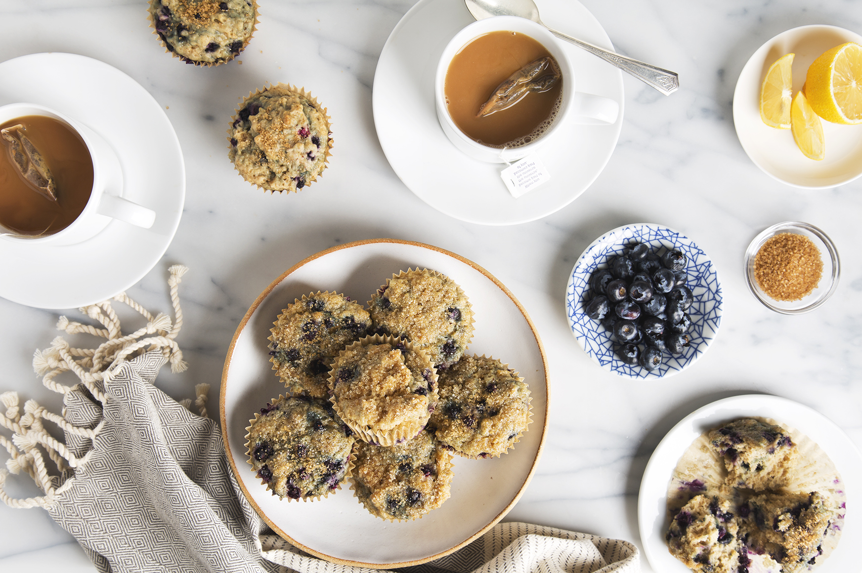 Healthy Blueberry Muffins | picklesnhoney.com #vegan #blueberry #muffins #breakfast #snack #recipe