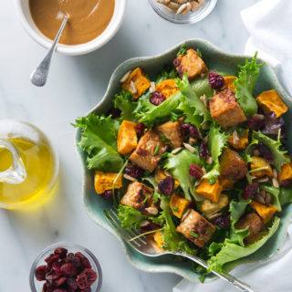 Sweet Potato Salad with Tempeh & Maple Mustard Dressing