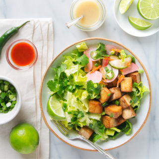 Tofu Banh Mi Salad with Quick Pickles