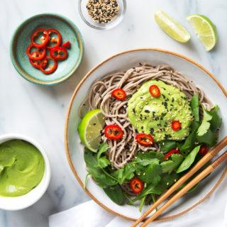 Creamy Avocado Soba Noodles