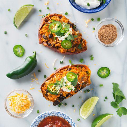 Twice Baked Sweet Potatoes | picklesnhoney.com #vegan #sweetpotatoes #glutenfree #recipe #lunch #dinner