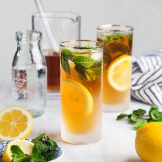 Refreshing Mint Green Tea Sodas