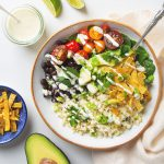 30 Minute Cauliflower Rice Burrito Bowl