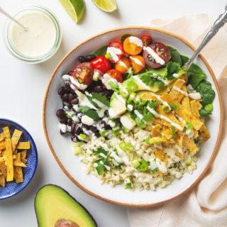 30 Minute Cauliflower Rice Burrito Bowl