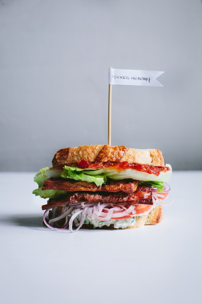 The Best Vegan BLT (with Rice Paper Bacon) | picklesnhoney.com #blt #sandwich #vegan #recipe
