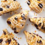 Simple Vegan Cranberry Orange Scones