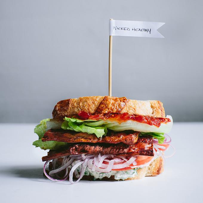 The Best Vegan BLT (with Rice Paper Bacon) | picklesnhoney.com #blt #sandwich #vegan #recipe