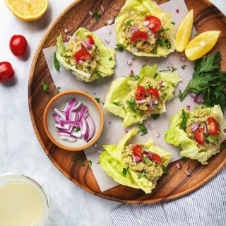 15-Minute Chickpea Salad Lettuce Wraps