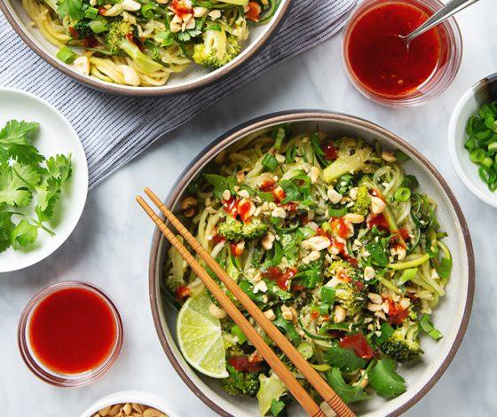 30-Minute Cucumber Noodle Pad Thai | picklesnhoney.com #cucumber #noodles #padthai #recipe #vegan #glutenfree #lunch #dinner