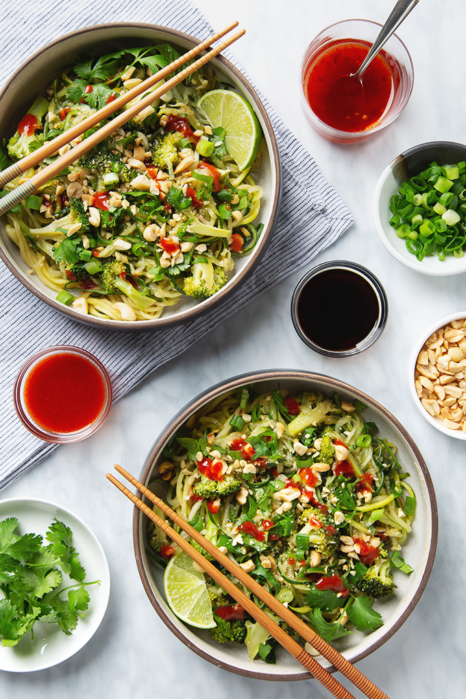 30-Minute Cucumber Noodle Pad Thai | picklesnhoney.com #cucumber #noodles #padthai #recipe #vegan #glutenfree #lunch #dinner
